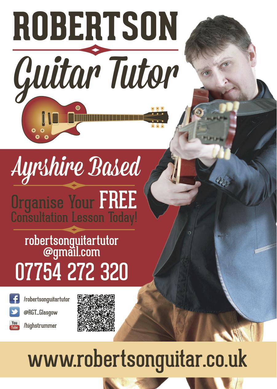 Robertson Guitar Tutor Flyer Certificate Front